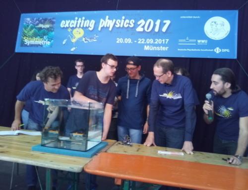 Marius Bewernick (St. Ingbert) und Tim Freidinger (Fechingen) erreichen mit ihrem Tauchboot den ersten Platz im bundesdeutschen Wettbewerb Exciting Physics.